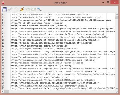 IMSeoArchive Indexer built-in text editor